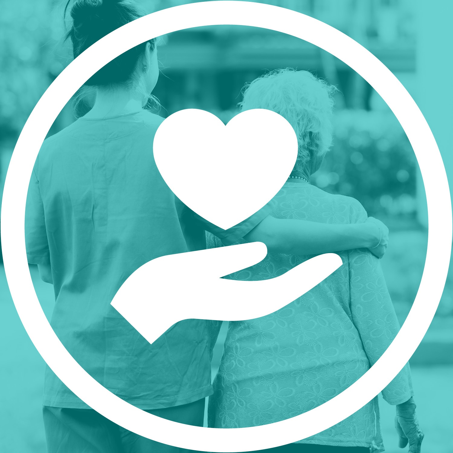 Hand and heart icon (Health and Social Care)