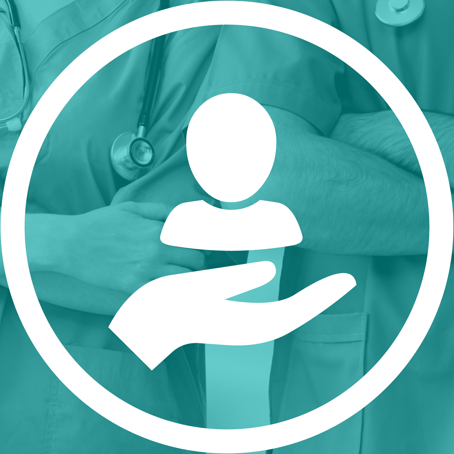 Hand and human icon (Healthcare)