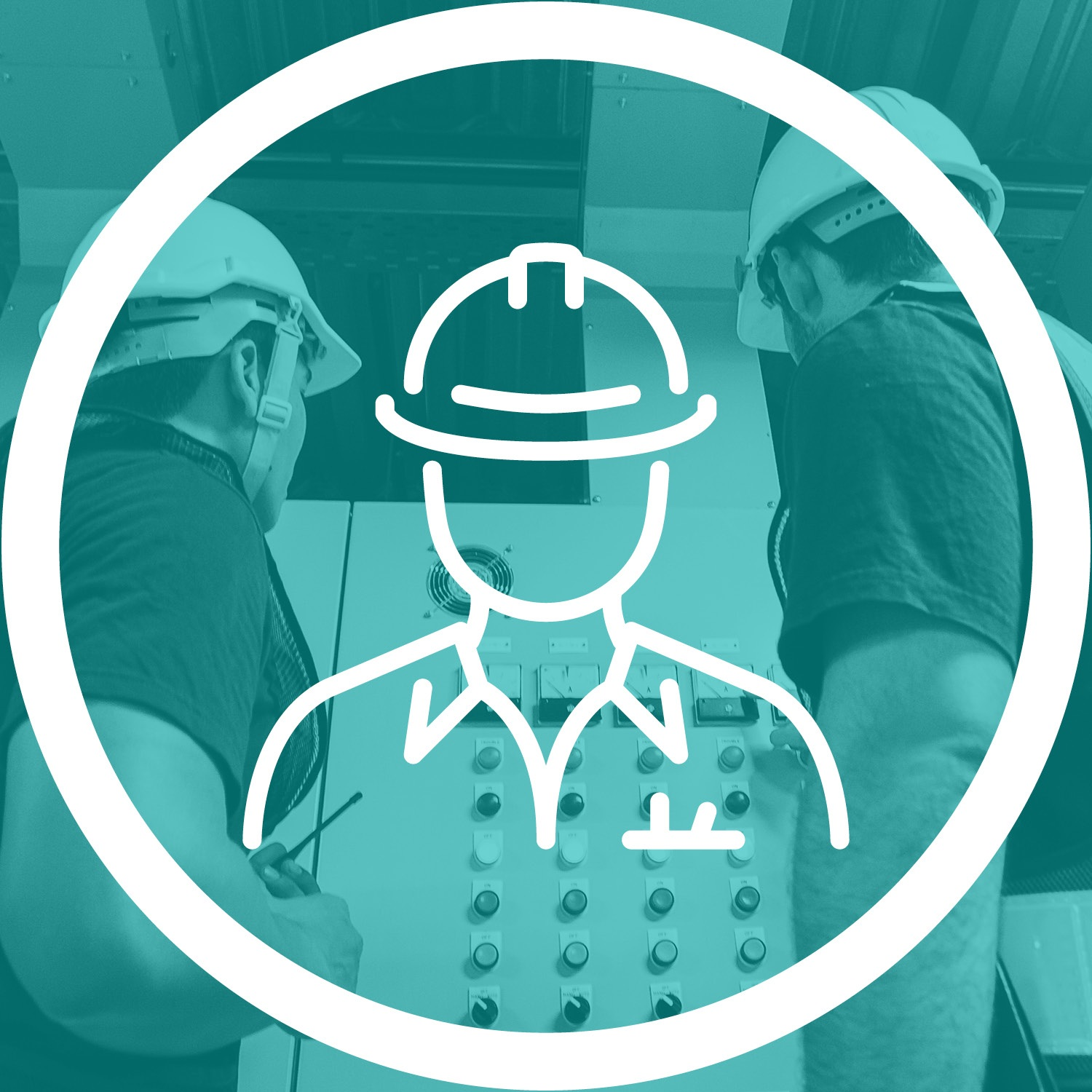 Person in hardhat icon